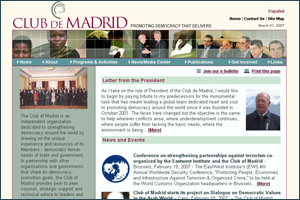Website of Club de Madrid