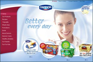 Recipes exchange system and web community for Dannon
