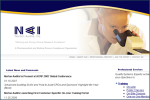 Norton Audits Inc. corporate website