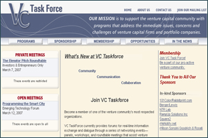 Venture capitalists community website VC Task Force